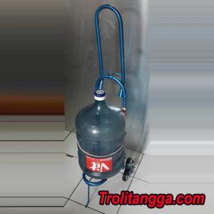 Troli Aqua Galon Lipat Biru Metalik TAG